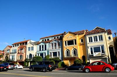 Photograph - San Francisco Marina Rowhomes by Andrew Dinh