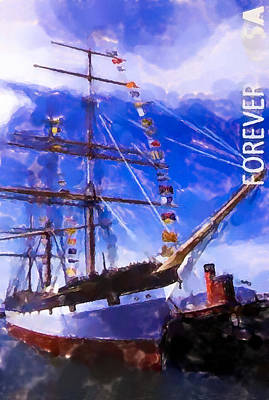 Sanfrancisco Painting - San Francisco Maritime Historical Park by Lanjee Chee