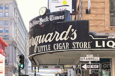 Photograph - San Francisco Marquard's Little Cigar Store On Powell And O'farrell Streets 5d17954 Painterly by San Francisco