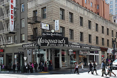 Photograph - San Francisco Marquards Little Cigar Store On Powell Street 5d17950 by San Francisco Art and Photography