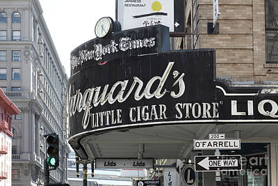 Photograph - San Francisco Marquards Little Cigar Store On Powell Street 5d17954 by San Francisco Art and Photography