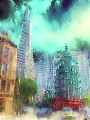 Digital Art - San Francisco by Michael Cleere