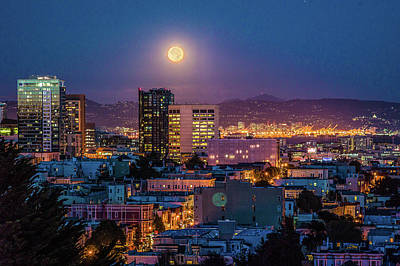 Photograph - San Francisco Moonlight by Judith Barath