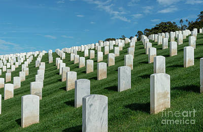 Photograph - San Francisco National Cemetery 1 by Glenn Franco Simmons