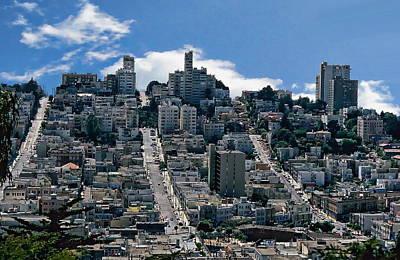 Photograph - San Francisco Neighborhood by Anthony Dezenzio