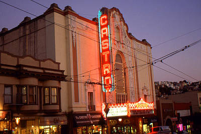 Photograph - San Francisco Nights - Castro Cinema by Peter Potter