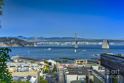 Photograph - San Francisco Oakland Bay Bridge 2 by David Zanzinger