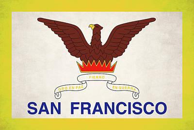 Digital Art - San Francisco Official Flag by Daniel Hagerman