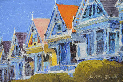 Painting - San Francisco Painted Ladies by Judith Barath