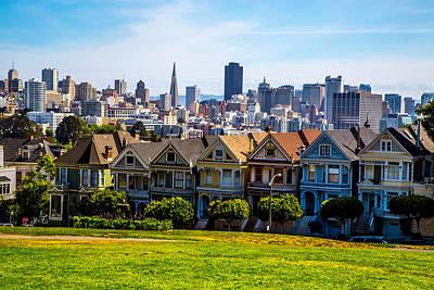 Photograph - San Francisco Painted Ladies by Lev Kaytsner