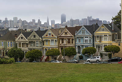 Photograph - San Francisco Painted Ladies by Willie Harper