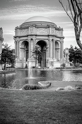 Photograph - San Francisco Palace Of Fine Arts - Black And White by Gregory Ballos