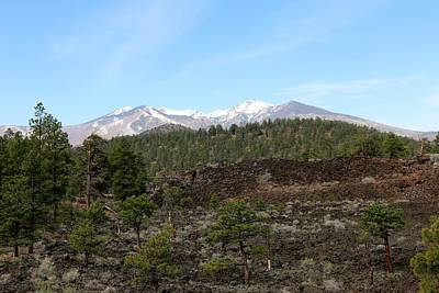 Photograph - San Francisco Peaks At Sunset Crater Volcano National Monument - 2 by Christy Pooschke