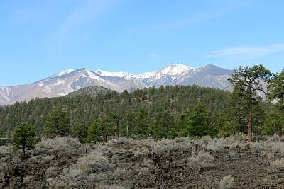 Photograph - San Francisco Peaks At Sunset Crater Volcano National Monument - 6 by Christy Pooschke