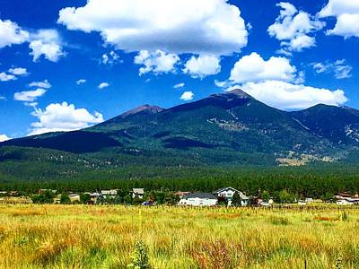 Photograph - San Francisco Peaks From The Valley by Michael Oceanofwisdom Bidwell