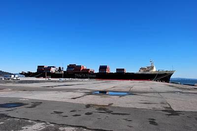 Photograph - San Francisco Pier - Massive Ship by Matt Harang