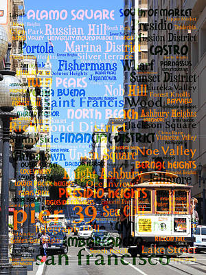 Photograph - San Francisco Places To Visit Cablecar On Powell Street 7d7261 2 by Wingsdomain Art and Photography