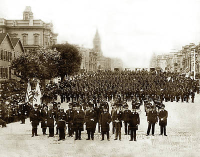 Photograph - San Francisco Police Department Circa 1901 by California Views Mr Pat Hathaway Archives