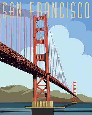 Digital Art - San Francisco Poster  by John Dyess