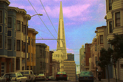 Digital Art - San Francisco Pyramid by Art America Gallery Peter Potter