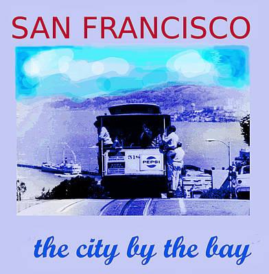 San Francisco Retro Travel Poster  Art Print by Enki Art