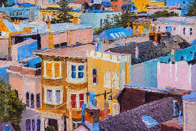 Painting - San Francisco Rooftops by Judith Barath