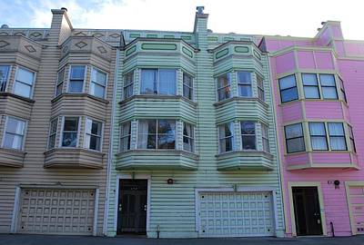 Photograph - San Francisco Row Homes - Colorful by Matt Harang