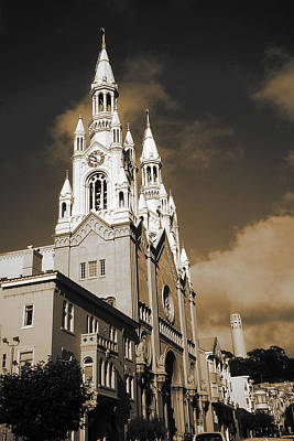 Photograph - Old San Francisco - Saints Peter And Paul Church by Art America Gallery Peter Potter