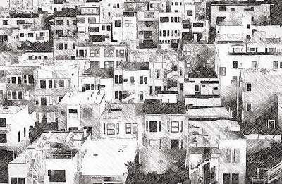 Digital Art - San Francisco Sketch by Mark Taylor