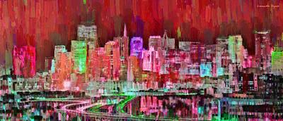 Financial Painting - San Francisco Skyline 109 - Pa by Leonardo Digenio