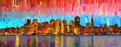Metropolitan Digital Art - San Francisco Skyline 11 - Da by Leonardo Digenio