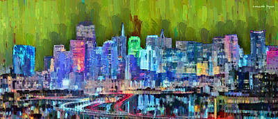 Gays Painting - San Francisco Skyline 115 - Pa by Leonardo Digenio