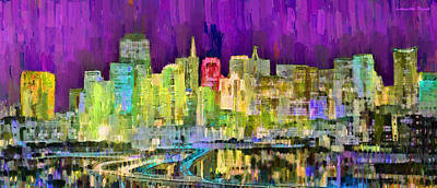 Homo Painting - San Francisco Skyline 120 - Da by Leonardo Digenio