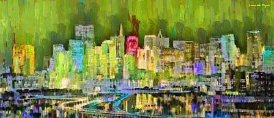 Building Digital Art - San Francisco Skyline 123 - Da by Leonardo Digenio