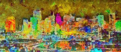 New York City Skyline Digital Art - San Francisco Skyline 131 - Da by Leonardo Digenio