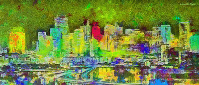 Valleys Digital Art - San Francisco Skyline 132 - Da by Leonardo Digenio