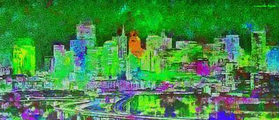 Tower Digital Art - San Francisco Skyline 133 - Da by Leonardo Digenio