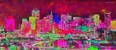 Lakes Digital Art - San Francisco Skyline 135 - Da by Leonardo Digenio