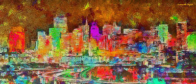 San Francisco Painting - San Francisco Skyline 136 - Pa by Leonardo Digenio