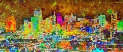 Gate Painting - San Francisco Skyline 140 - Pa by Leonardo Digenio
