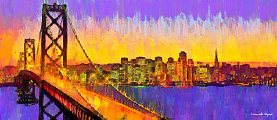 Gays Painting - San Francisco Skyline 50 - Da by Leonardo Digenio