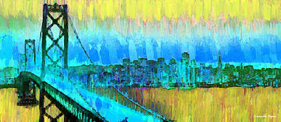 Financial Digital Art - San Francisco Skyline 54 - Da by Leonardo Digenio