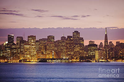 San Francisco Skyline Art Print by Bryan Mullennix