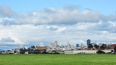 Photograph - San Francisco Skyline From Crissy Field by Mark Barclay