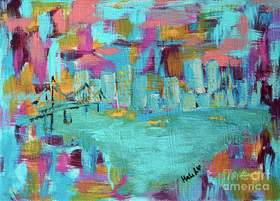 Painting - San Francisco Skyline  by Haleh Mahbod