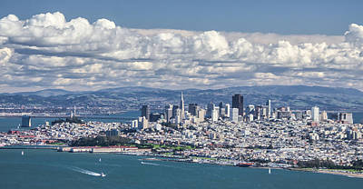 Photograph - San Francisco Skyline On A Beautiful Day by Jay Blackburn