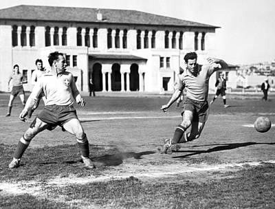 Alsatian Photograph - San Francisco Soccer Match by Underwood Archives