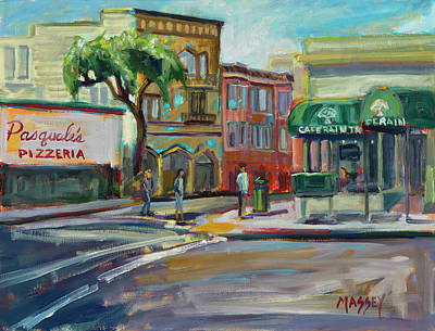 Painting - San Francisco Street Corner by Marie Massey