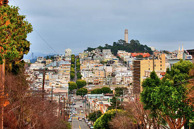 Photograph - San Francisco Street Scene - Telegraph Hill by Gregory Ballos