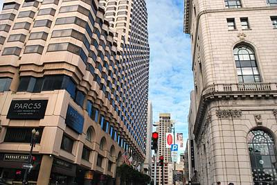 Photograph - San Francisco Street View - Parc 55  by Matt Harang